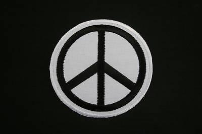 ECUSSON Brodé - PATCH Thermocollant - PEACE AND LOVE / 6cm / BLANC / PATCHE