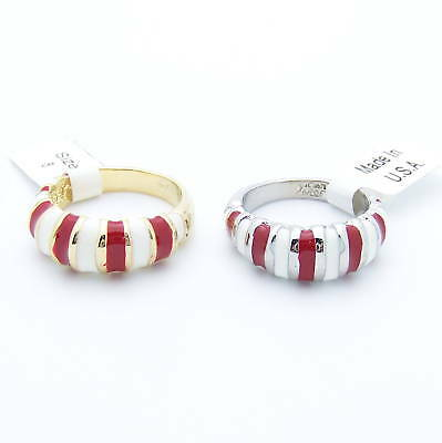 Crimson & White Ring Alabama Tide Football Game Day Silver Sp Gold Gp Bama