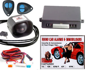 NEW-RHINO-GTS-CAR-ALARM-2-POINT-IMMOBILISER-Dual-Shock-B-B-Siren-4-Yr-Warr