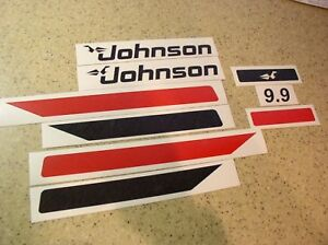 Johnson Vintage 9 9 Hp Outboard Motor Decals Free Ship