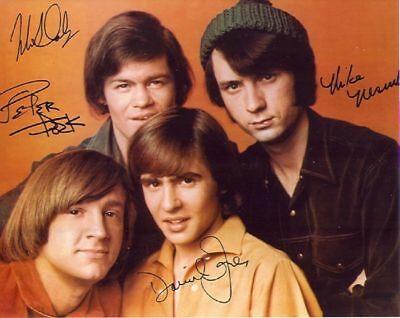 "1970S *THE MONKEES* SIGNED BY 4 COLOR 8X10"" PHOTO REPRINT AUTOGRAPHED"