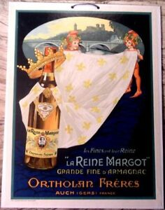 SUPER French Armagnac Advertising Poster - 1927 - Art Nouveau w/Nymphs