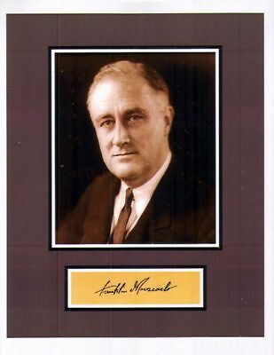 PRESIDENT FRANKLIN D ROOSEVELT SIGNED DISPLAY 8X10 REPRINT PHOTO AUTOGRAPHED