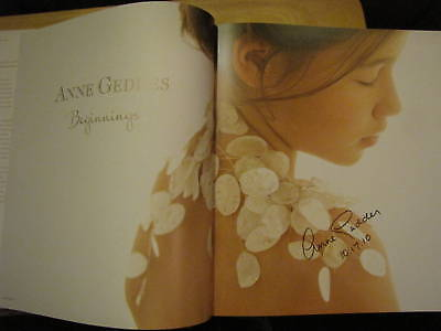 Signed & Dated Beginnings By Anne Geddes Hc +pic &more