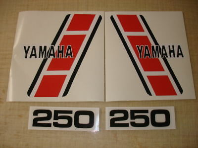 1983 Yamaha Yz250 Euro Model Tank And Side Panel Decals