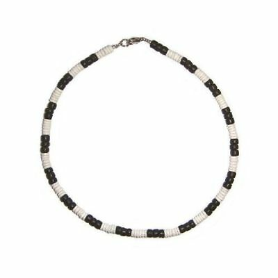 Hawaiian Jewelry Puka Shell and Black Coconut Necklace