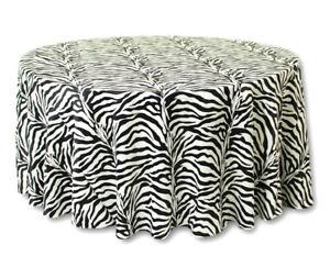 20 Lot 120  Round flocage Zebra mariage nappes