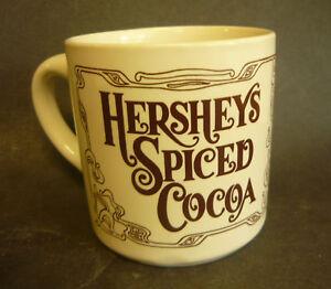 Vintage-HERSHEYS-HOT-COCOA-CHOCOLATE-MUG-COFFEE-SPICED-HOUZE-GLASS-1980-HERSHEY