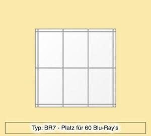 blu ray regal aus plexiglas f r 60 blu ray 39 s br7 ebay. Black Bedroom Furniture Sets. Home Design Ideas