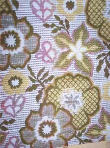 Retro-Pink-Yellow-Flower-Print-Fabric-Upholstery-1-Yard-R101