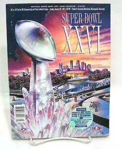 1992-NFL-SUPER-BOWL-XXVI-Program-Book-w-Cards-Inside