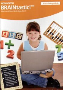 BRAINTASTIC  Maths & Word Skills Age 4 to 7 PC CD NEW
