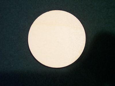 (12) 2.5 Inch Wood Round Circle Cutout Wood Craft Disks