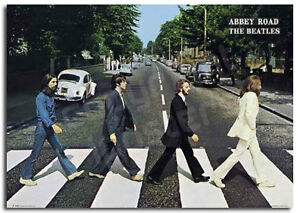 Beatles Poster Abbey Road Lennon Brand New Music