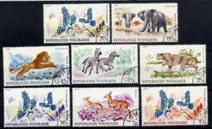 TOGO-1967-WILD-ANIMALS-AND-BIRDS-COMPLETE-SET-OF-EIGHT