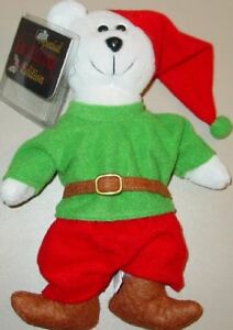 Christmas COLLECTICRITTERS Xmas ELF Teddy Bear Bean Toy PLUSH Mint New with Tags