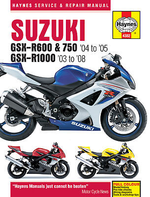 Haynes Manual 4382 Suzuki GSXR1000 GSX-R1000K6 GSX-R1000K7 GSX-R1000K8 NEW