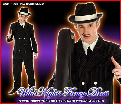 Fancy Dress Costume 1920's Gents Gangster Outfit Lg