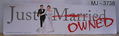 Just Married Bumper Magnet