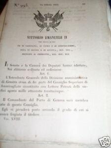 DECRETO-REGIO-ANNO-1850-N-995-INTENDENTE-GENOVA
