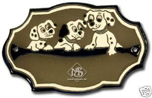 Keramikschild-Tuerschild-Hunde