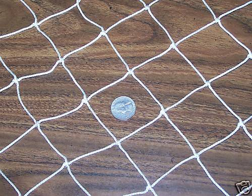 40' X 10' Baseball Nylon Netting 1/4 Top & Bottom Rope Borders 2 Nylon 21