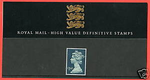1987 High Values £1.60 Definitive Pack No 14