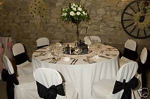 WEDDING POLY CHAIR COVERS FOR SALE WHITE OR BLACK NEW EBay