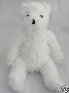 Goffa-Plush-Teddy-Bear-Dave-And-Busters-White-Shaggy-Hairy-14-034