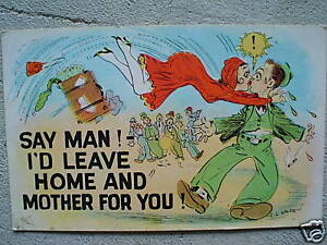 Vintage-1930s-War-Postcard-Say-Man-LOOK