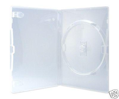 100 Amaray DVD Hüllen 1er Box 14 mm für je 1 BD / CD / DVD transparent