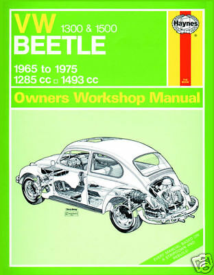 Haynes Manual Volkswagen Beetle 1300 1500 1965-75 (0039)