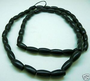 100-BUFFALO-Bone-Horn-Hairpipe-BEADS-BLACK-1-2-inch