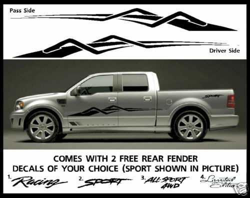 Truck Side Decals Car Suv Sport Dodge Stripe Fits All Trucks Pk