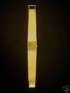 """lucien piccard 14k gold 32ct diamond champagne dial 7 bracelet"