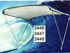 BOAT BIMINI TOP CANOPIES WITH OVERALL COVER ADJUSTABLE WIDTH 120CM TO 140CM