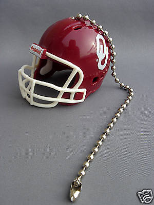 Light/fan Pull & Chain Oklahoma Sooners Football Helmet