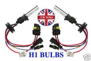 H1 6000k White HID Xenon Replacement Bulb 2 Bulbs Headlight 35w Lamps Light UK