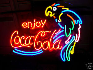 COCA-COLA-COKE-PARROT-BEER-BAR-NEON-LIGHT-SIGN-me003