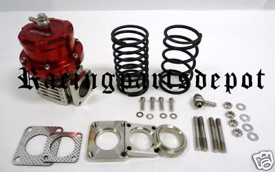 OBX Racing NEW 40mm Wastegate W Flanges WG40 MM Red ALL