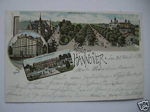 AK-Hannover-1897-Herrenhauser-Allee-Schloss-Palmenhaus