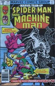 MARVEL-Team-Up-COMIC-99-SPIDER-MAN-Machine-Man-1980