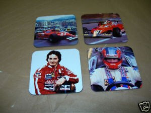 Gilles-Villeneuve-F1-Formula-One-Drinks-Coaster-Set