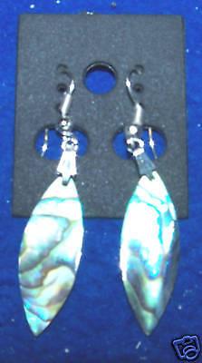 Genuine Paua Abalone Earrings Ear Rings Dangle