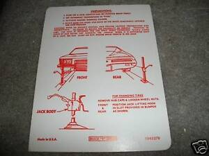 1973-BUICK-RIVIERA-TRUNK-JACK-INSTRUCTIONS-DECAL