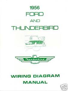 1956 ford thunderbird wiring diagram manual | ebay 1956 thunderbird wiring diagram pdf