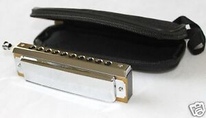 10-Hole-40-Tone-Chromatic-Harmonica-C-Key-Blues-Folk-DGK