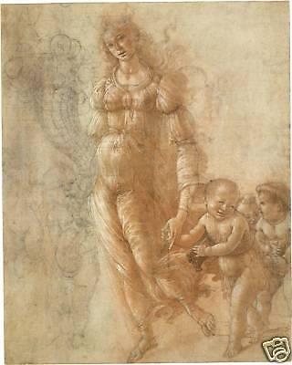 Renaissance Drawings: Botticelli - Autumn - Art Print