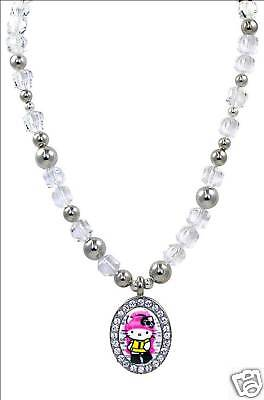 Tarina Tarantino Pink Head Hello Kitty Necklace