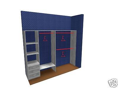 Built IN Wardrobe Made TO Measure 2 Sliding Doors AND
